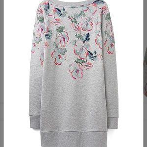 Joules Grey marl poppy sweatshirt